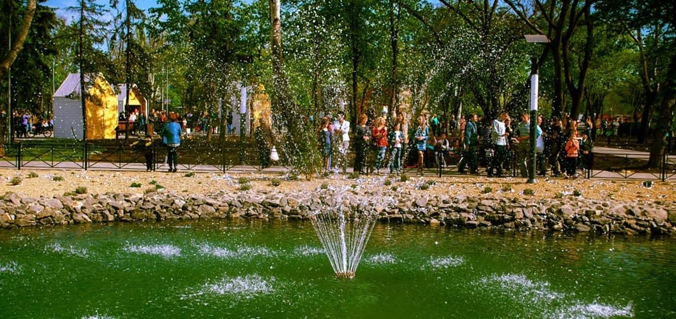 Фонтан в парку «Веселка»
