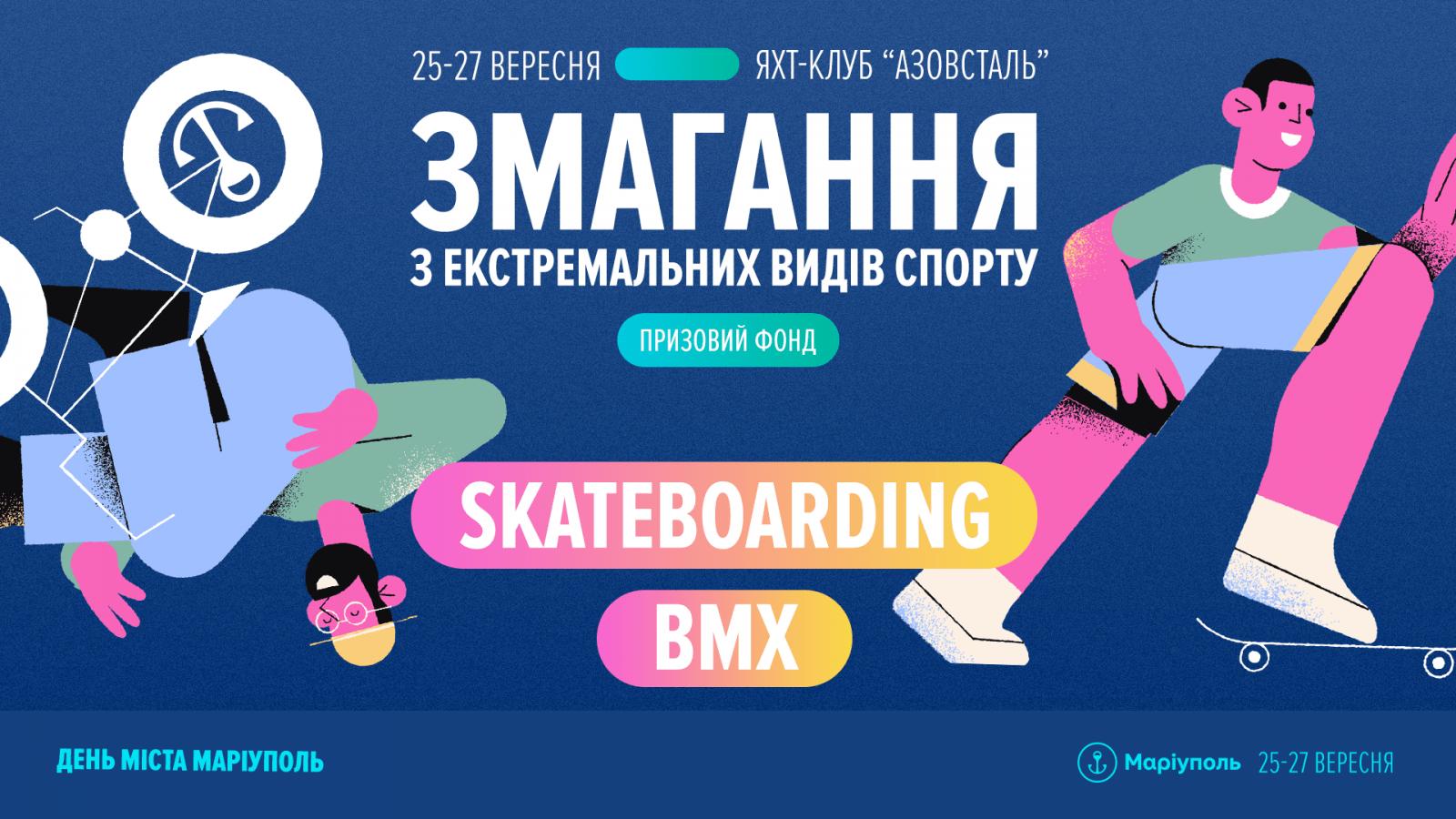 Змагання з екстремальних видів спорту: BMX та Skateboarding