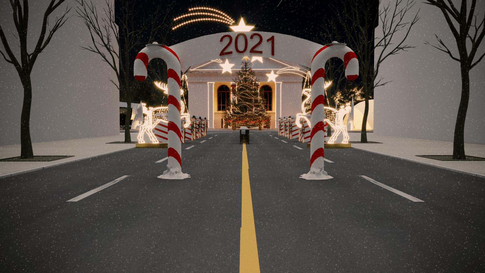 """Новорічні вогники мрій 2021:  Глава 1 """"Театральний сквер"""""""